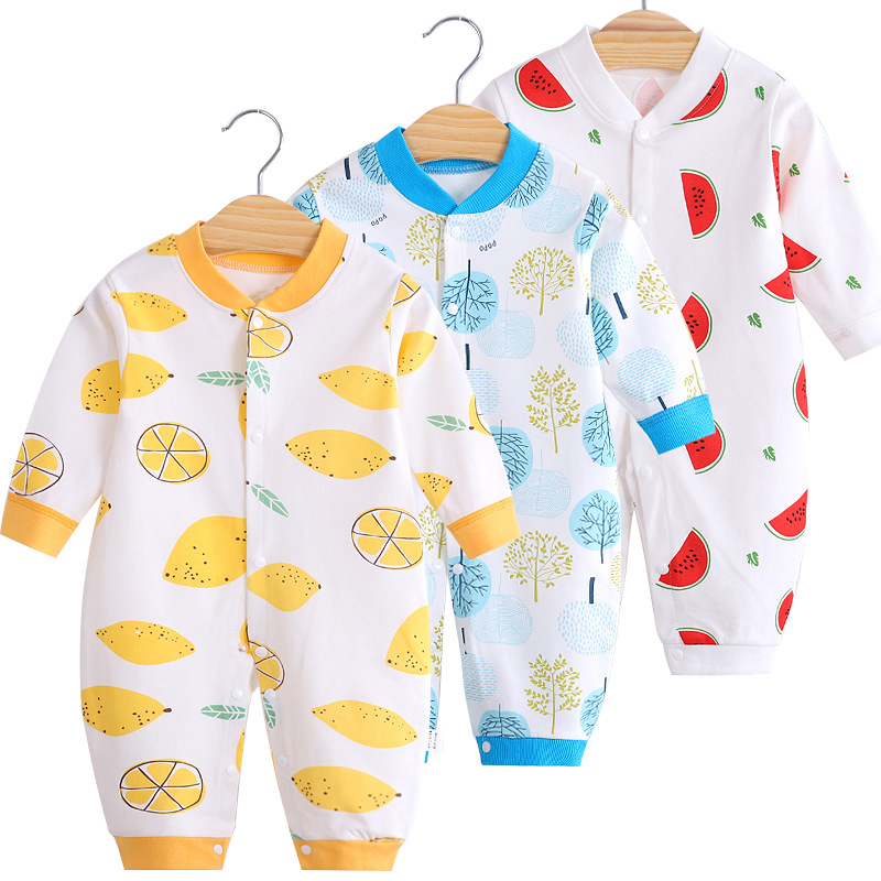 Cotton Baby Jumpsuit Baby Long Sleeve Toddler Romper Clothes Newborn Cute Romper Baby Home Clothes Baby Girl Winter Clothes