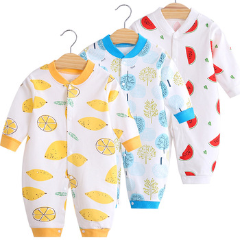 Cotton Baby Jumpsuit Baby Long Sleeve Toddler Romper Clothes Newborn Cute Romper Baby Home Clothes Baby Girl Winter Clothes christmas baby clothes autumn winter knitted baby deer romper newborn romper infant jumpsuit toddler girl romper