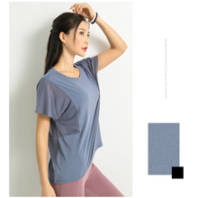 Summer Mesh Sexy Women Sport T Shirt dry Quick Gym Tops Hollow Out Running Short Sleeve fitness Yoga top S-L