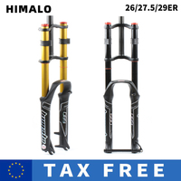 HIMALO bicycle fork 26/27.5/29er MTB Suspension Air Fork Magnesium Alloy Double Shoulder  Air Oil  Lock Straight Downhill fork