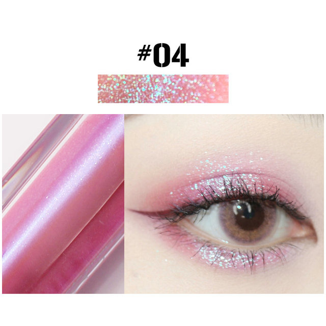 10 Colors Liquid Eye Shadow Diamond Glitter Eyeshadow Brush Pen Waterproof Long Lasting Shimmer Eye Shadow Stick Makeup Cosmetic 5