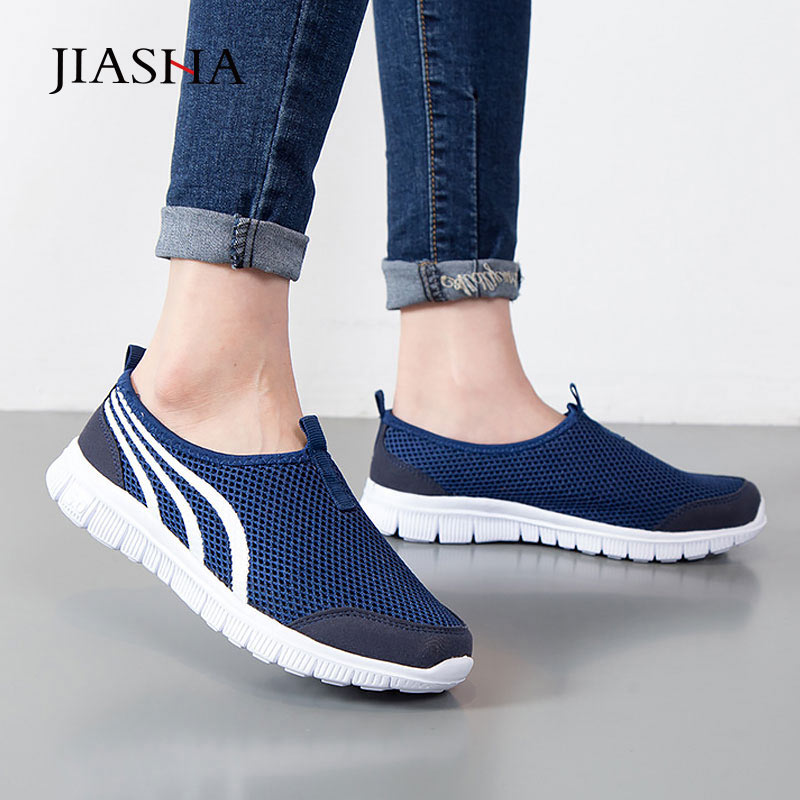 Women Shoes 2019 New Fashion Light Lace-up Women Sneakers Casual Female Shoes Tenis Feminino Breathable Mesh Summer Shoes Woman