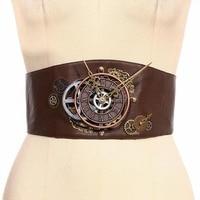 Steampunk Industrial Revolution Women's decorative wide girdle waistband Cosplay belt Props Halloween Punk Style Accessories
