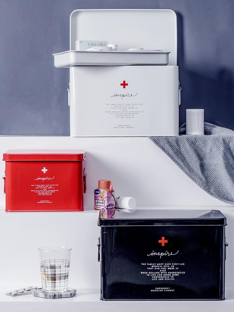 Medicine Box Household Drug Storage Box Child Family Size Portable Outpatient Emergency Kit