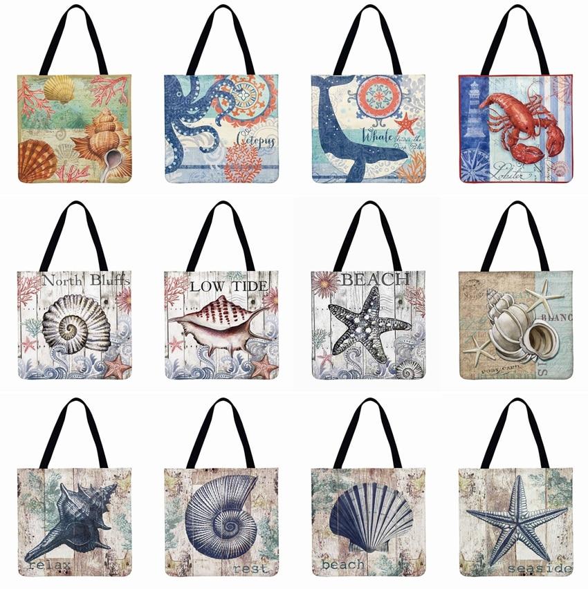 Digital Printed Tote Bag Linen Fabric