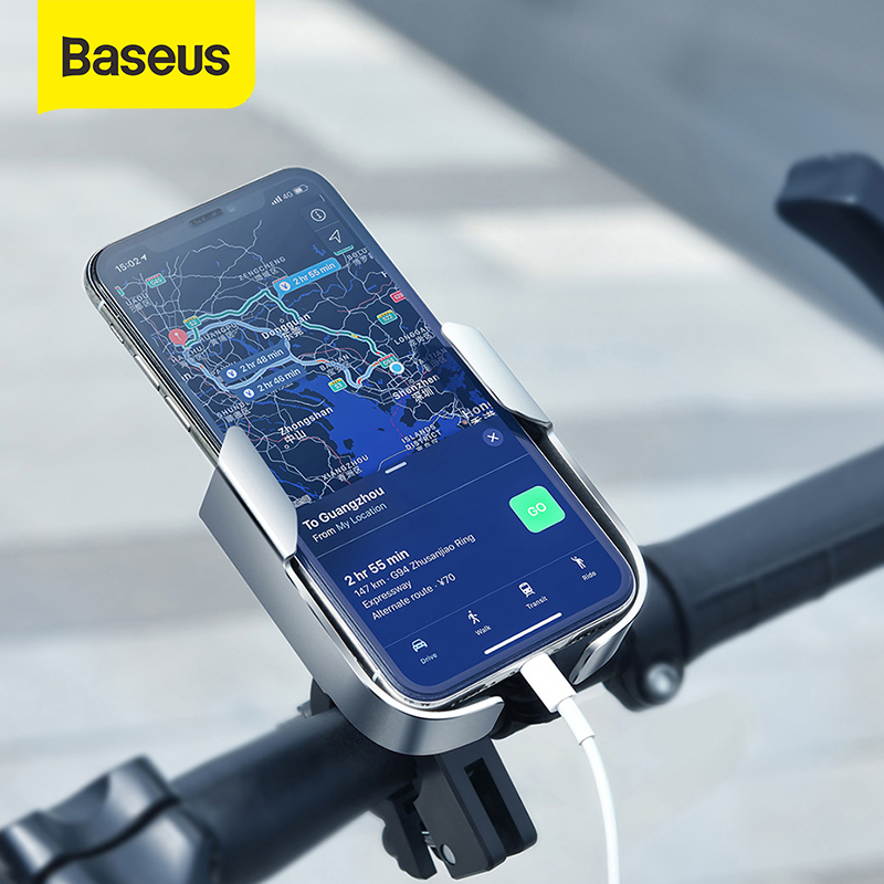 Baseus Motorcycle Holder 360 Degree Universal Bike Motorcycle Motorbike Handlebar Phone Holder Bracket For IPhone 11 XS XR