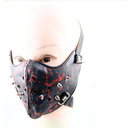 MeterMall Crazy Genie Halloween Cosplay Gothic Horror Anti Dust Cycling Bicycle Bike Motorcycle Racing Ski Face Mask (blood)