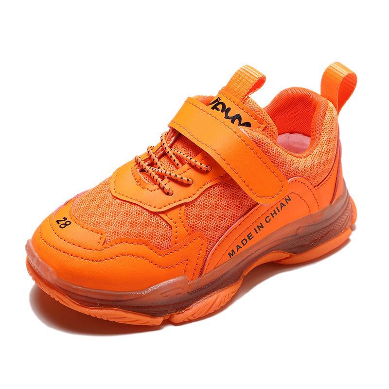 Kids Sneakers  Children Shoes Boys Girls Sports Shoes Student  Running Shoes Fluorescent Color  Breathable Comfortable SC061