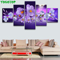 orchid flower diamond painting 5 panel diamond embroidery full round square drill 5d diy mosaic puzzle cross stitch set,ML1500