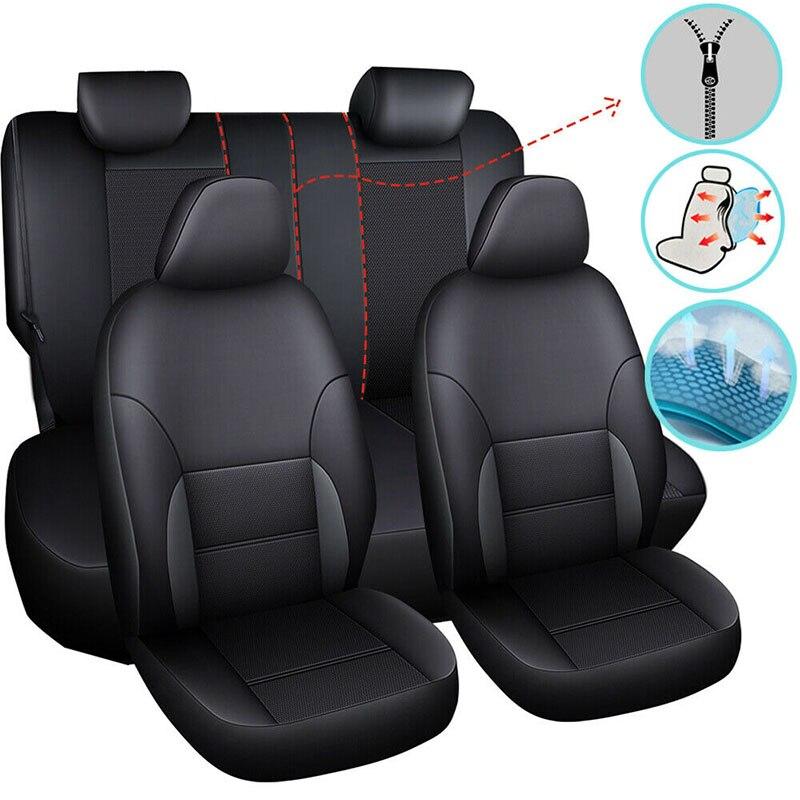 Чехол для автомобильного сиденья, универсальные чехлы из искусственной кожи для Bmw E39 E60 E61 F07 F10 F11 F18 G30 G31 E34 X1 E84 F48, защита для автомобильного с