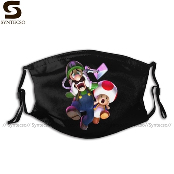 Luigi Mansion Mouth Face Mask Luigi Mansion Facial Mask Funny Kawai with 2 Filters for Adult luigi mansion mouth face mask luigi mansion facial mask funny kawai with 2 filters for adult