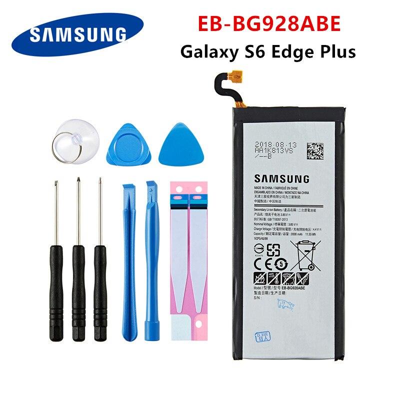 SAMSUNG Orginal EB-BG928ABE 3000mAh Battery For Samsung S6 Edge Plus SM-G9280 G928P G928F G928V G9280 G9287 Plus S6edge+ +Tools