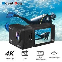 MountDog Waterproof Action Camera Ultra HD 4K With WiFi Remote Control Sports Video Recoding Underwater Cameras