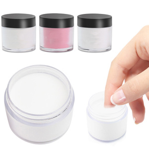 10ml/Bottle Nail Dipping Powder White/Pink/Clear Color Shiny Pigment Dust Laser Nail Art Holographic Glitter Decorations TFAA46