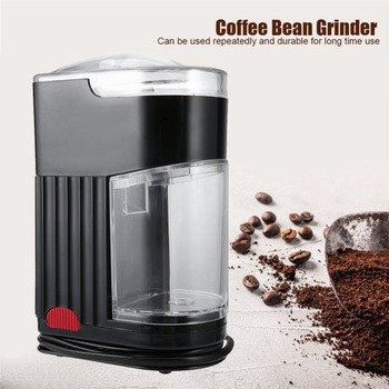Multifunctional Electric Coffee Grinder Stainless Steel Mini Maker Or Bean Black EU Plug - discount item  41% OFF Kitchen Appliances