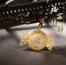 Creative Inheritance Ancient Blessing Pendant New Hollow Laos Gold-plated Gold Necklace Long  Jewelry