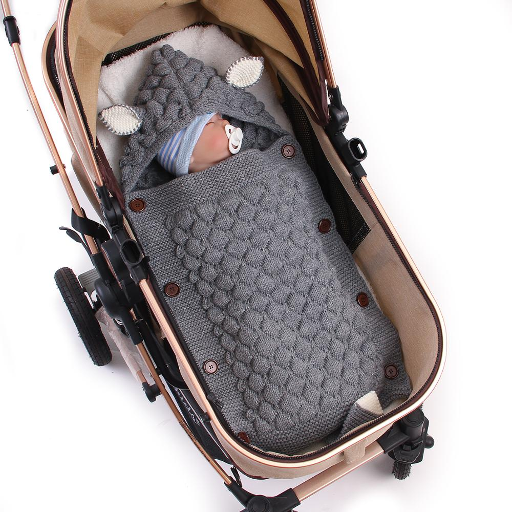 Closeout DealsEnvelopes Stroller Sleepsacks Cocoon Bebes Baby Newborn Infantil Swaddle Knitted Cartoon