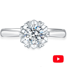 Sona NOT FAKE Fine Engraving Ring S925 Sterling silver Diamond Solitaire ring Marry me ring 925 round cut 6 claws 1 ct 925 sterling silver round cut crown sona simulation diamond ring 18k white gold plated ring us size from 4 to 12 jsa