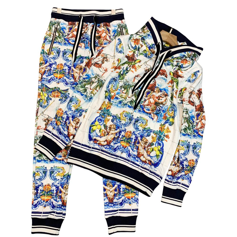 2020 Hoodie With Print Angel Mercerized Cotton Material For Men's Set Speacial Pattern Product Eden Park Tommi Luxury Brand