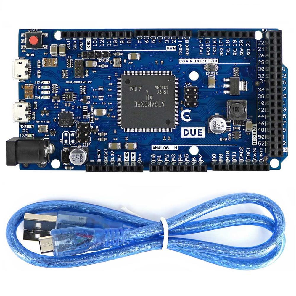 For Arduino Due 2012 R3 ARM Version Main Control Board SAM3X8E 32-bit ARM Cortex-M3 / Mega2560 R3 Duemilanove