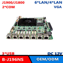 Intel Baytrail J1900 6 * I211AT LAN брандмауэр ITX материнская плата для маршрутизатора сетевой безопасности Pfsense