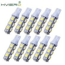 цена на High Quality 10X White T10 13 SMD 5050 13LED 13Smd 194 168 192 Auto Car Side Light Bulb 194 168 W5W LED Wedge Lamp 12V wholesale