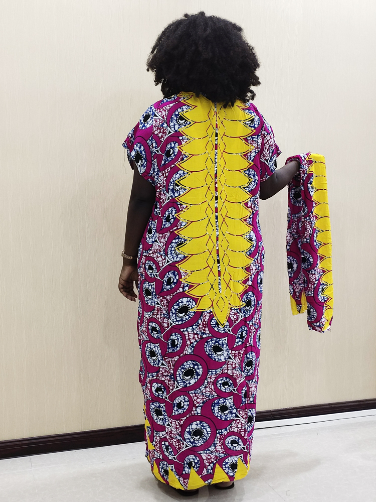 Muslim Women Dress Abaya Dubai Islamic Female Africa Dresses Arab Kaftan with Scarf