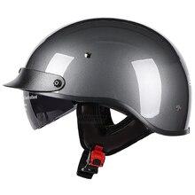Kask motocyklowy niemiecki motocykl Vintage Casco Moto motocykl otwarta twarz Retro pół kask Chopper Biker Pilot rozmiar M XXL