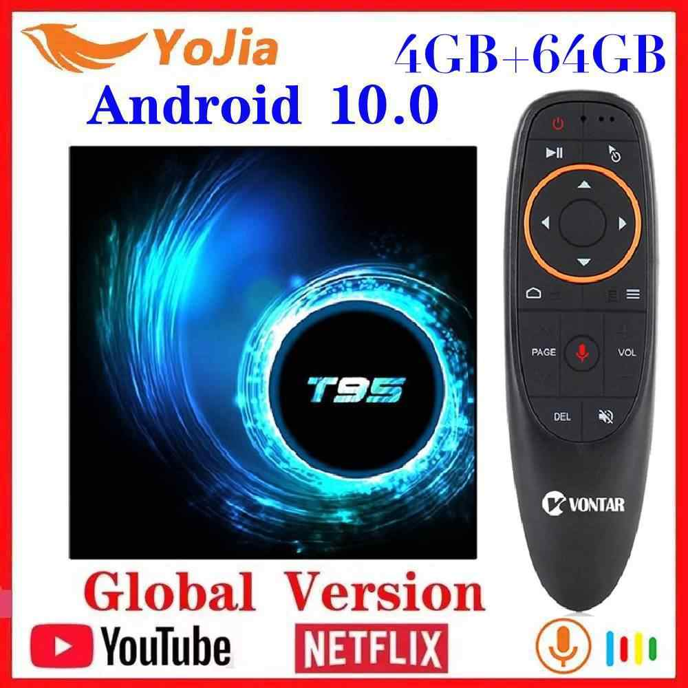 NUOVO Android 10.0 TV Box Android 10 MAX 4GB di RAM 64GB ROM Allwinner H616 Quad Core 6K wifi T95 Media Player Youtube Set Top Box
