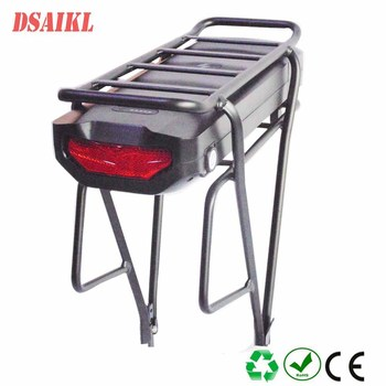 Rear rack ebike battery pack 36V 13Ah 15Ah 16Ah 17.5ah 20Ah 25Ah 28Ah 30Ah battery with luggage rack image