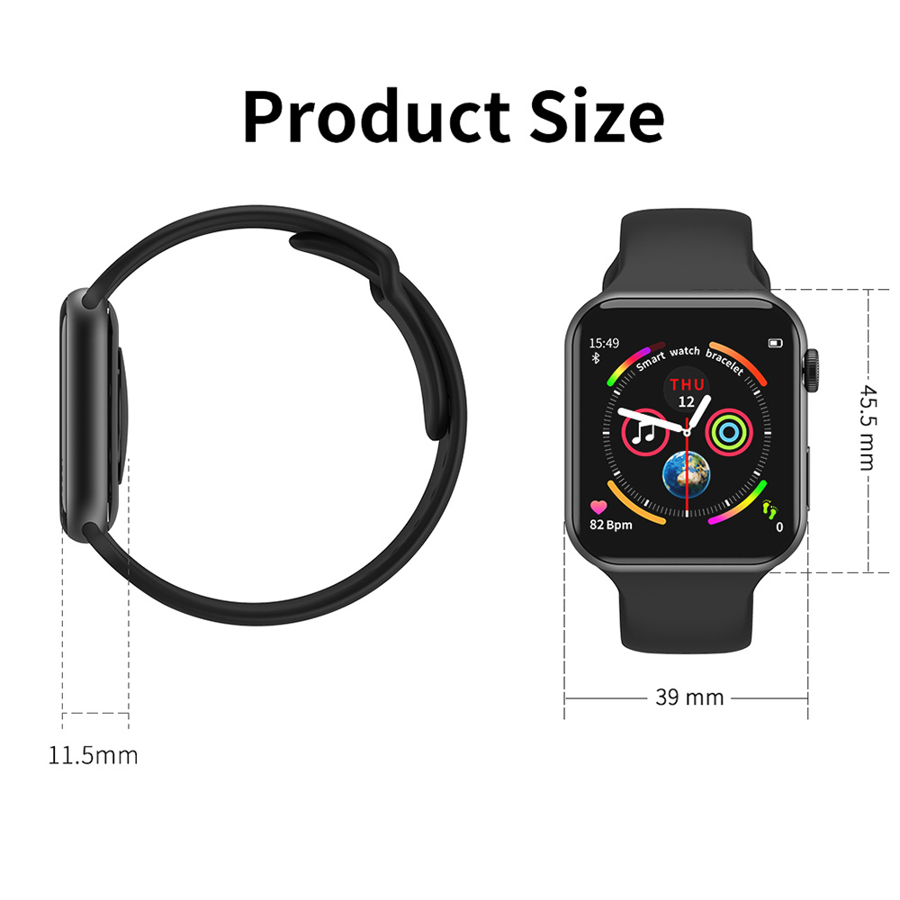 A5 Max Smart Watch 1.54 Full Touch Screen HeartRate Blood Pressure Monitor Waterproof Sport Smartwatch Tracker IOS PK F10 IWO8 9 (6)