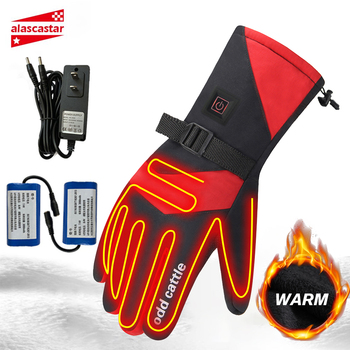 Rechargeable Motorcycle Heated Gloves Touch Screen Non-slip 5 Speed Adjustable Warm Gloves USB Charging Winter Cycling Gloves