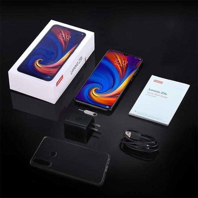 Global ROM Lenovo Mobile Phone 6GB 64/128GB Smartphone Z5S 6.3 Inch 2340*1080 Rear Camera 16.0MP 8.0MP 5.0MP Octa Core Phones 4