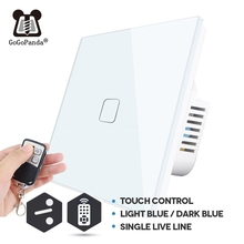 EU 2 Way Remote Cpmtrol Touch Switch for Wall Stair Light Smart Home Automation Waterproof and Fireproof 1 G 2 Gang 3 Gang