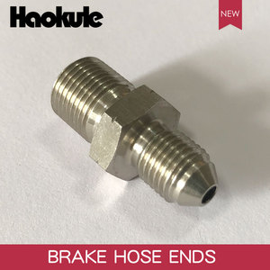 Image 3 - HAOKULE  AN3 3/8x24 UNF to M12x1.25 / M12x1.5 / M12x1.0 Male Bubble Flare Stainless Steel Brake Fittings INVERTED FLARE Adapter