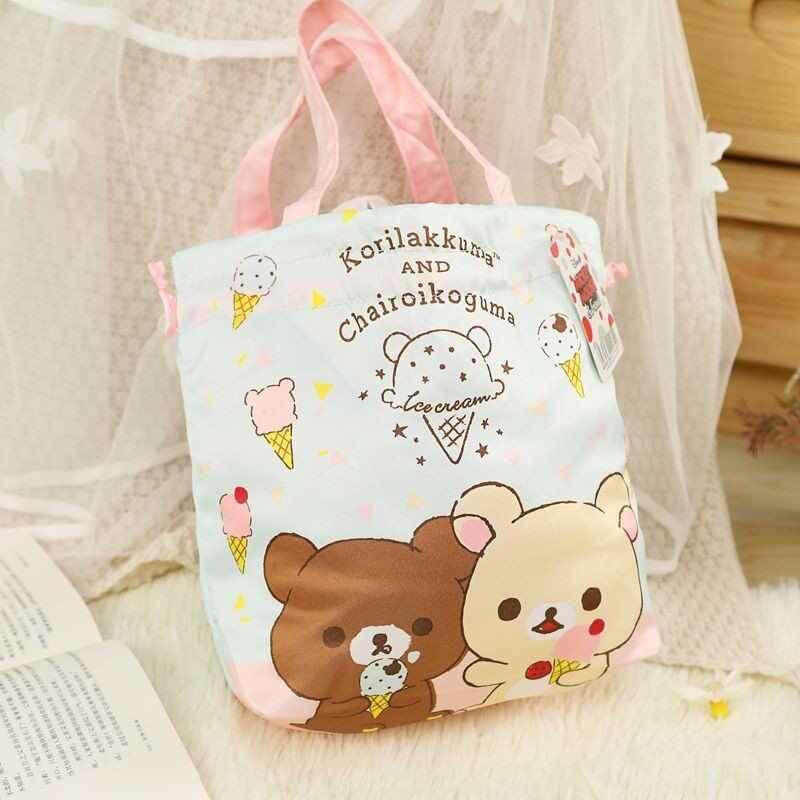 Cartoon Ciao Kitty Melody Cinnamoroll PomPomPurin BADTZ-MARU Bento bag Bambini Sacchetto del Pranzo Delle Donne di Shopping Bag Eco Tote Borsa
