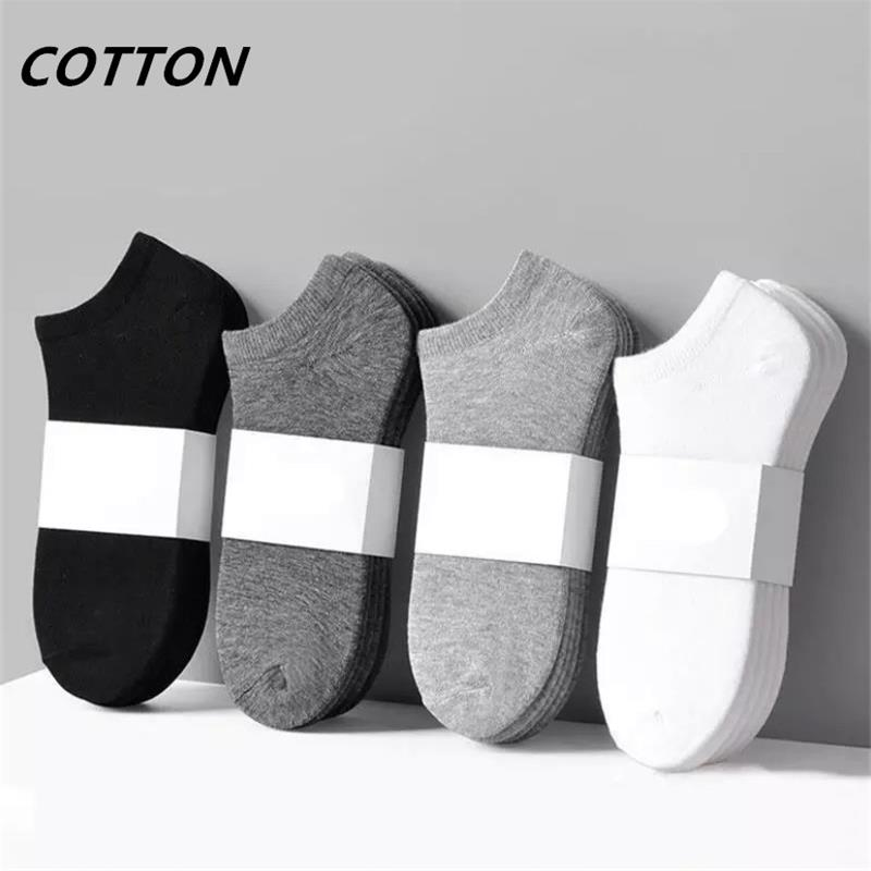5 Pairs/lot Men's Socks Cotton Large High Quality Business Casual Breathable Foot Bath Men's Socks Summer Autumn Men