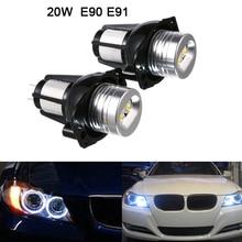 купить 2pcs 20W LED Angel Eyes Headlight Bulbs 1200LM 20W Headlight Angel Eye Ring Marker Halo Light Led Fit for BMW E90 E91 Cars Auto дешево