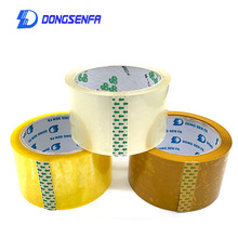 DONGSENFA  1Roll Length 80Y OPP Sealing Tape Packing Label Clear Carton Box Packaging Adhesive