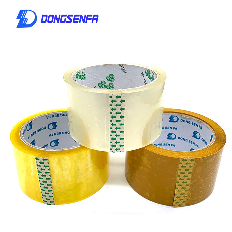 DONGSENFA 1Roll Length 80Y OPP Sealing Tape Packing Label Clear Carton Box Sealing Packaging Tape Adhesive Tape
