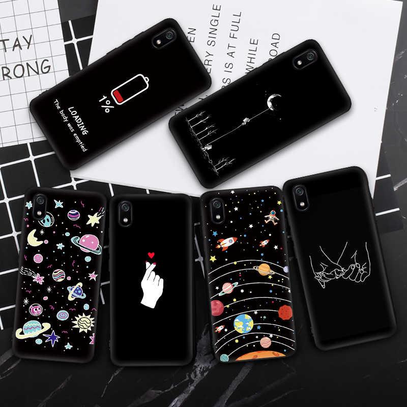 CASPTM חמוד קריקטורה אופנתי טלפון מקרה עבור Xiaomi Redmi 7A 7 A Coque על עבור Redmi 5A 6A 7A 7 6 5 סיליקון חזרה כיסוי Capas