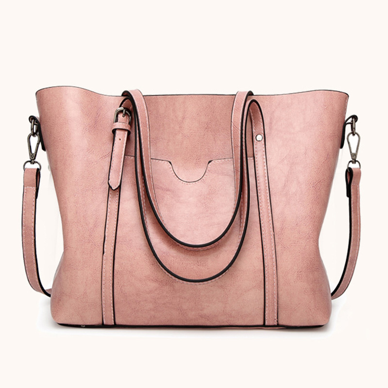 Fashion Women PU Leather Bucket Bag business Purses Tote Top Handle Satchel Shoulder with Zipper for Ladies 1