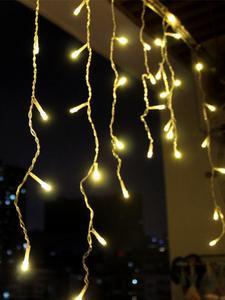 outdoor decoration 5m Droop 0.4-0.6m curtain icicle led string lights 220V/110V garden xmas luminaria garland decorative lights