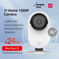 YI Home Camera 1080p IP Wifi sicurezza rilevazione umana basata su AI Baby Monitor visione notturna Cloud versione internazionale (usa/ue)