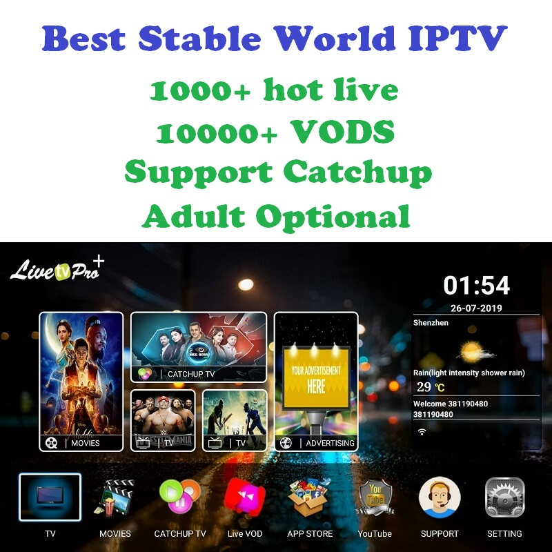 Indien IPTV abonnement Pakistan Afghanistan allemand arabe etc. Smart TV IPTV box M3U milliers de chaînes et films en direct
