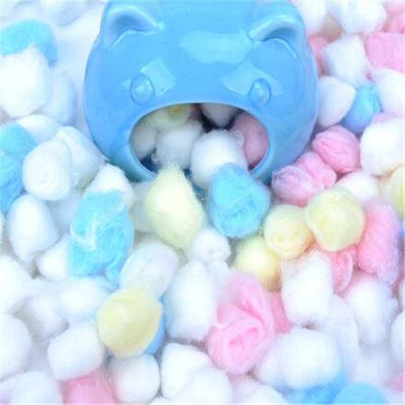 Hot 100Pcs/Bag Colorful Winter Keep Warm Cotton Ball Cute Cage House Filler Supply For Hamster Rat Mouse Small Animals Supplies