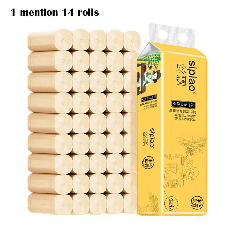 Natural Roll Paper Toilet Paper Napkins Household Toilet Paper