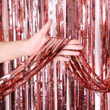 Party Favors Wedding Decoration Party Supplies Photozone Rain Tinsel Foil Curtain Birthday Party Wall Drapes Photo Zone Backdrop