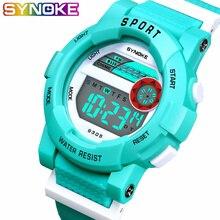 SYNOKE, детские часы, светодиодный, цифровые, водонепроницаемые, детские спортивные часы, многофункциональные, электронные, для мальчиков, студентов, наручные часы