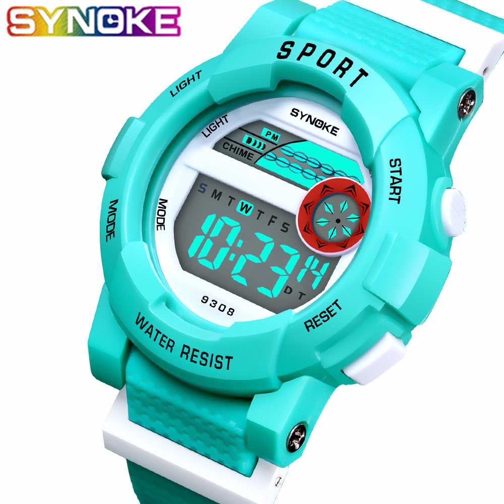 SYNOKE Children Watches LED Digital Watch Waterproof Kids Sports Watches Multifunction Electronic Boys Students Wristwatches